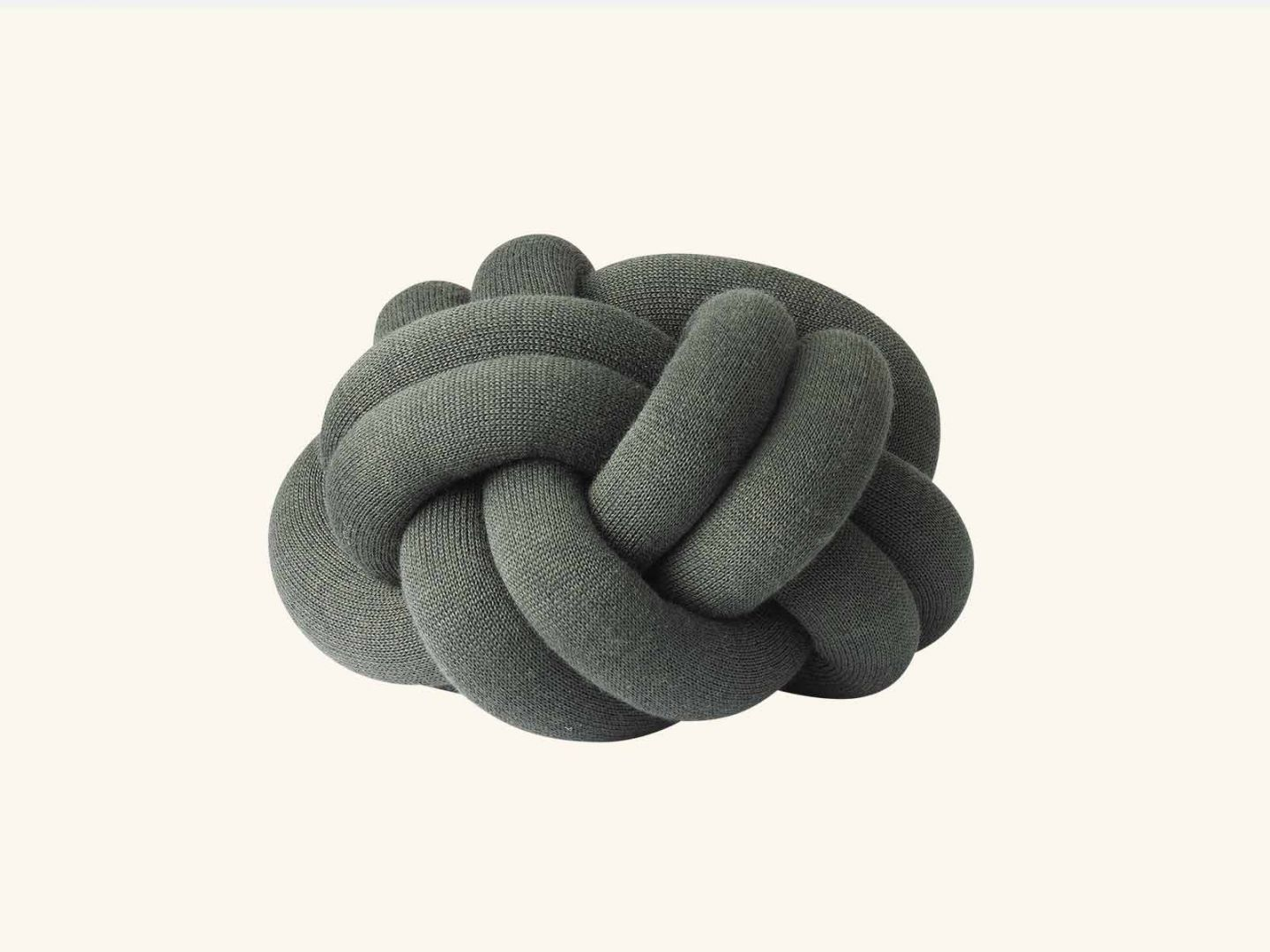 Knot cushion Forest Green