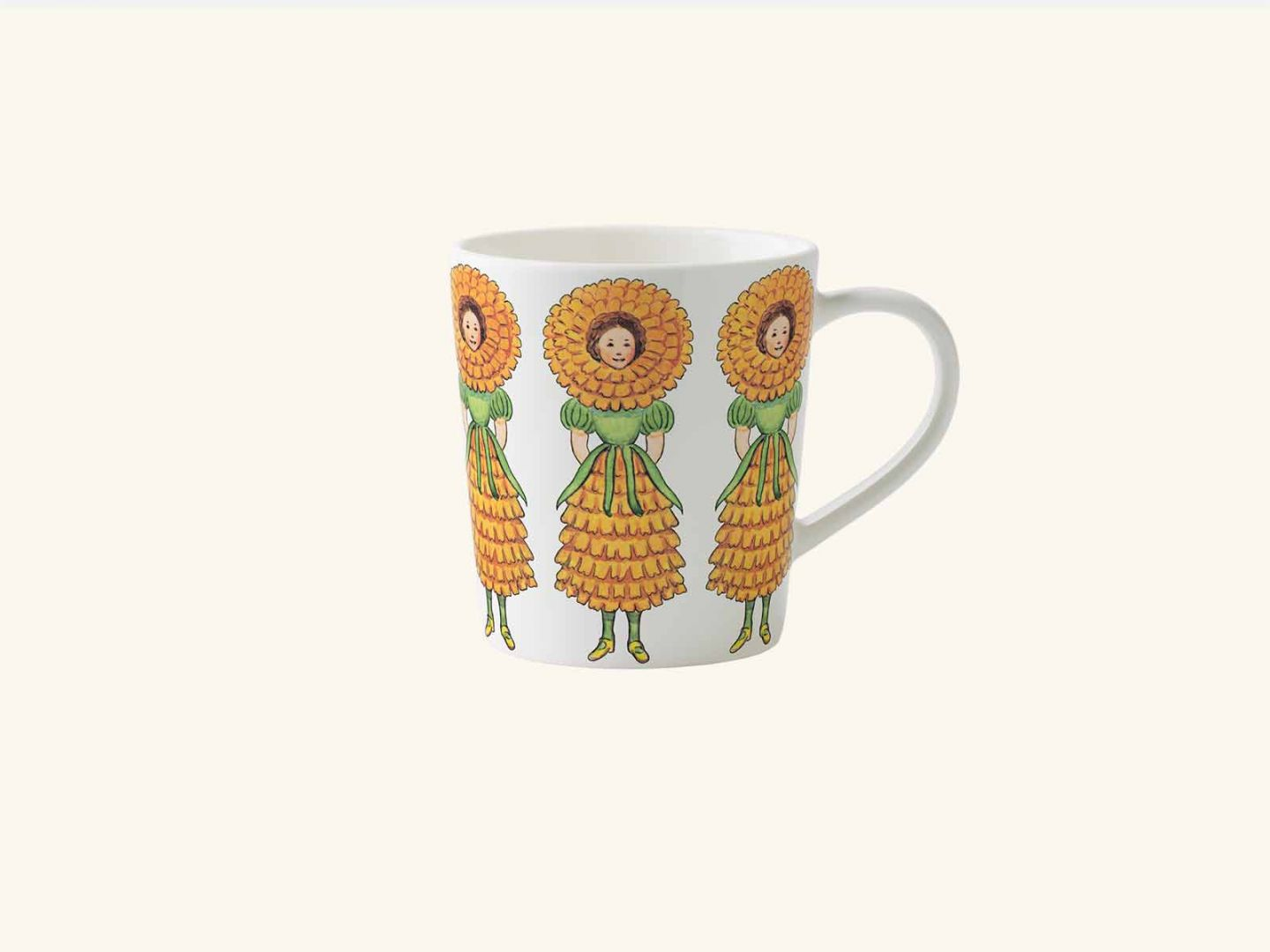 Mug w handle, Mrs Marigold
