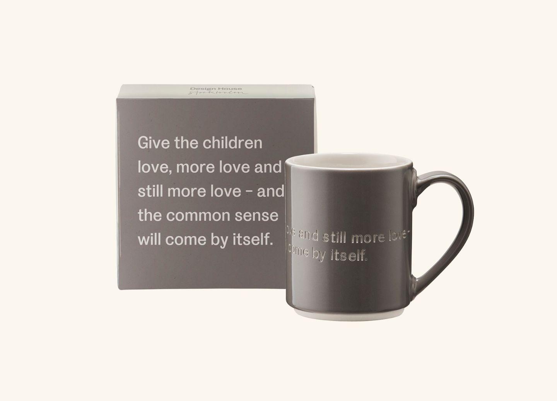 AL Mug 1, Grey (EN) Give the children love