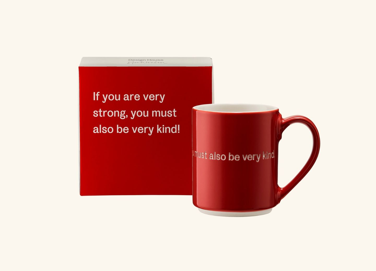 AL Mug 2, Red (EN) If you are very strong