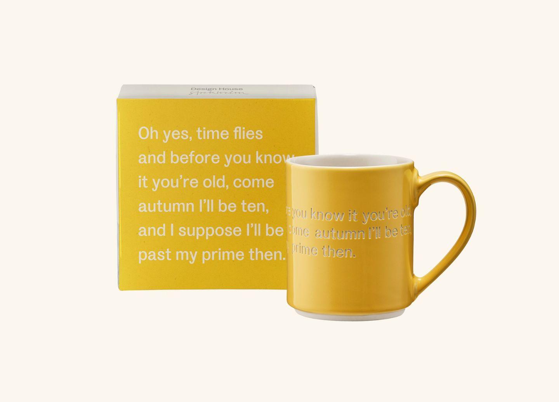 AL Mug 4, Yellow (EN) Oh yes, time flies