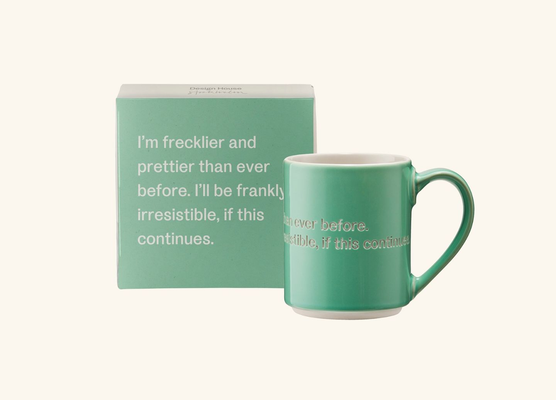 AL Mug 7, Light Green (EN) I'm frecklier