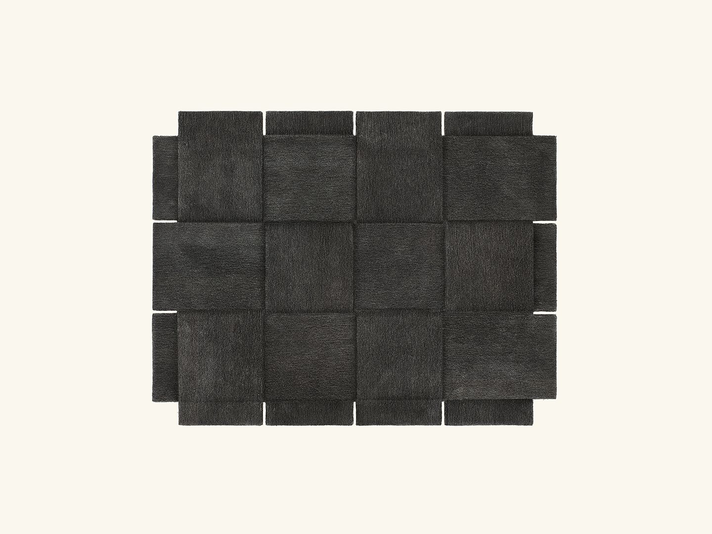 Basket rug Dark grey 185x240cm