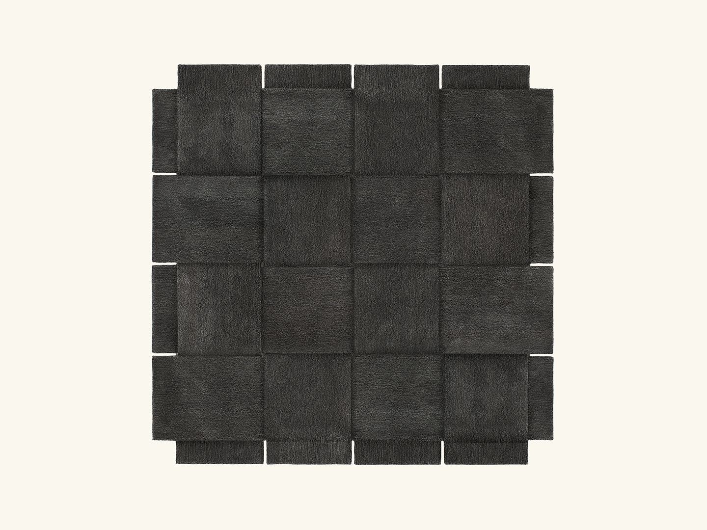 Basket rug Dark grey 245x245cm