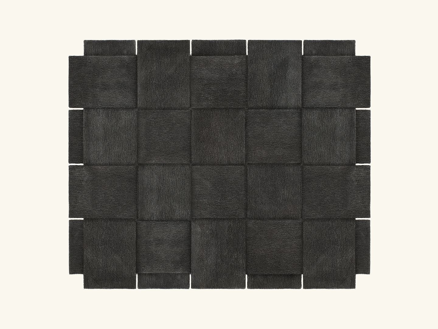Basket rug Dark grey 245x300cm