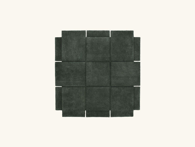 Basket rug Green 180x180cm