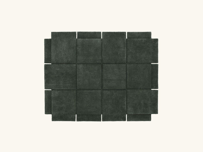 Basket rug Green 185x240cm