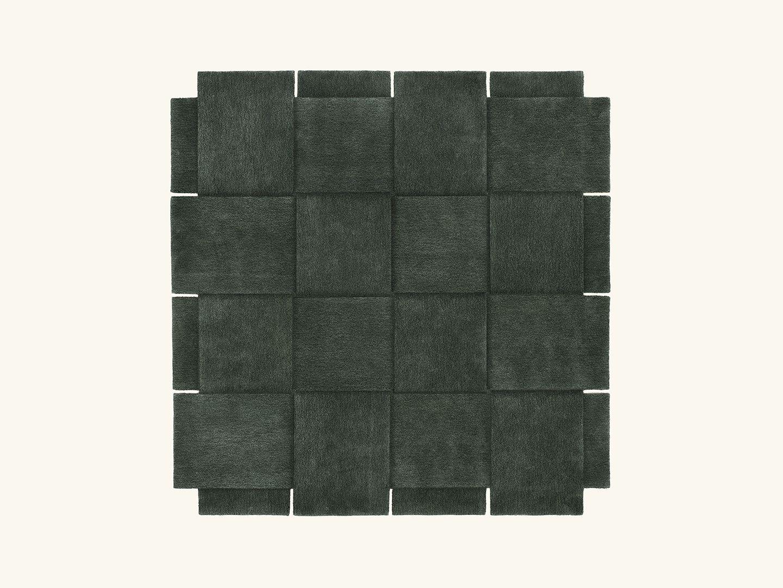 Basket rug Green 245x245cm