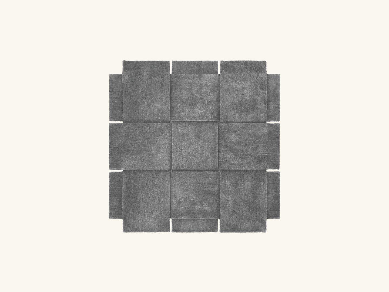 Basket rug Grey 180x180cm