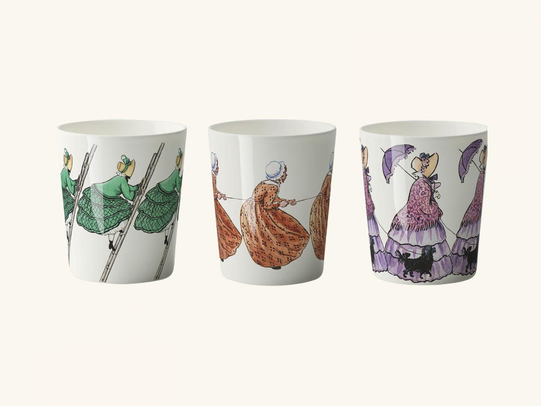Mugs, Aunts Green, Brown & Lavender