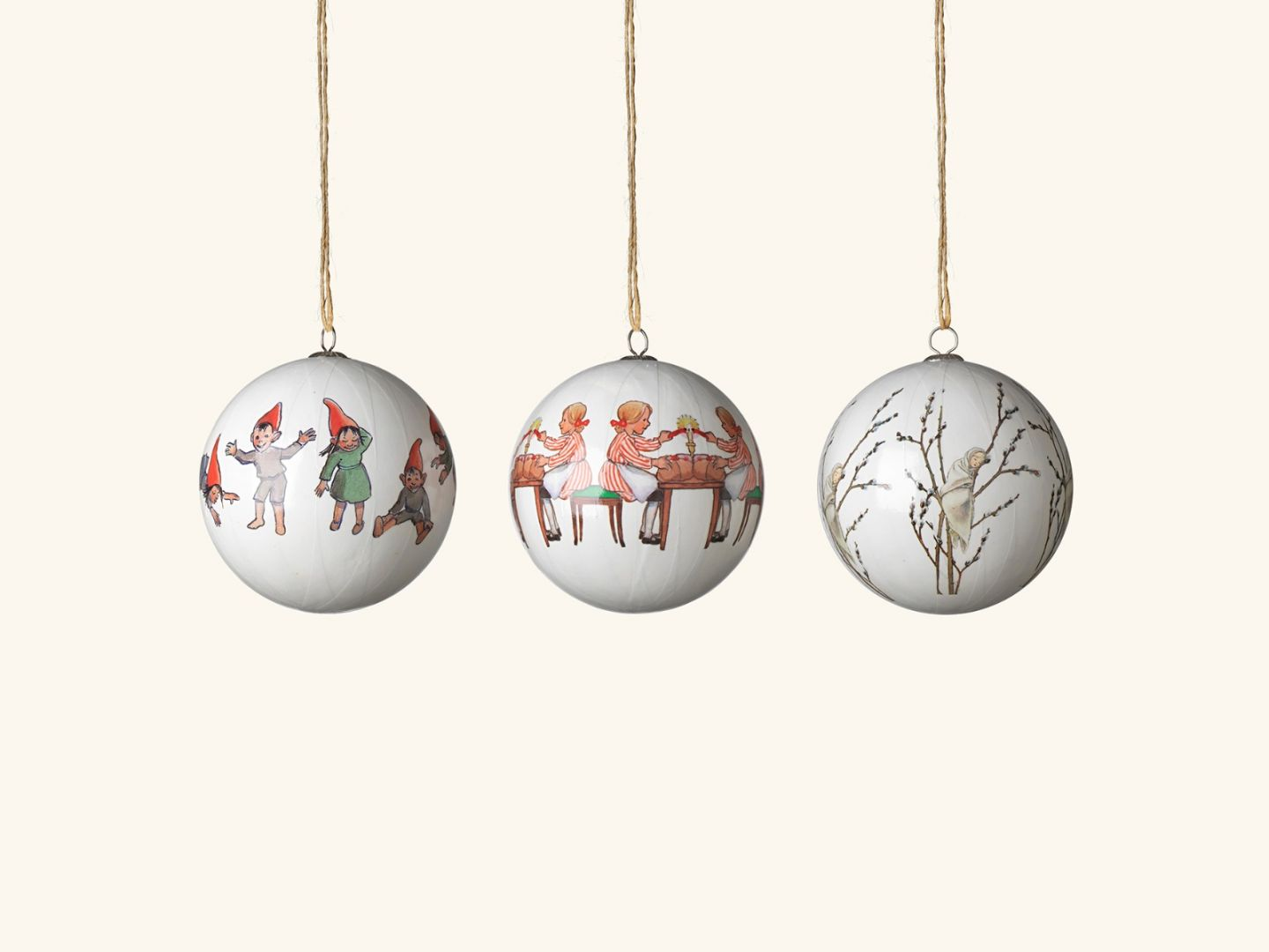 Christmas tree ornaments, Little Willow & co (set of 3)
