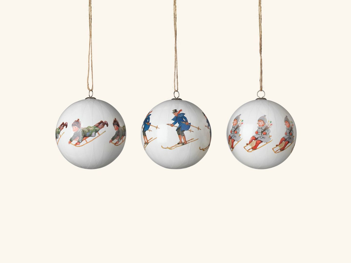 Christmas tree ornaments, Uncle Blue & co (set of 3)