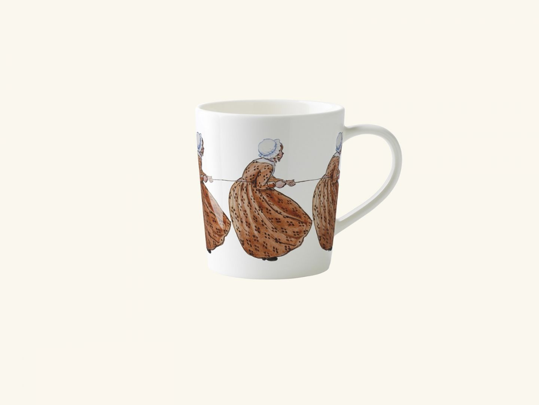 Mug w handle, Aunt Brown