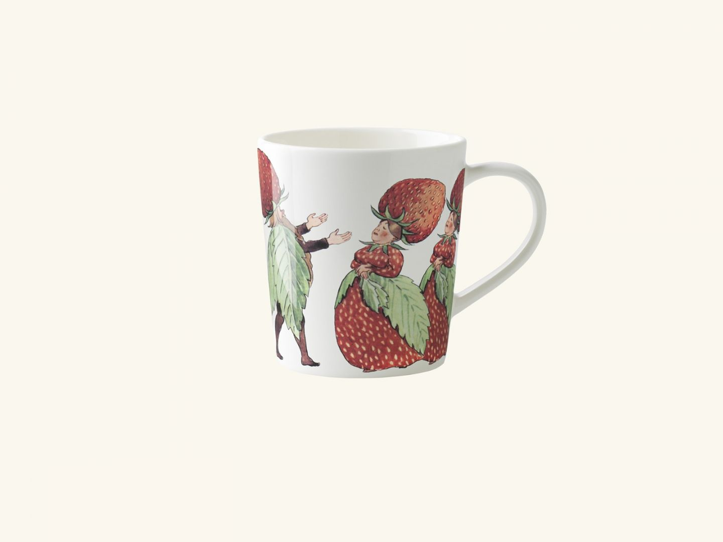 Mug w handle, The Strawberry family