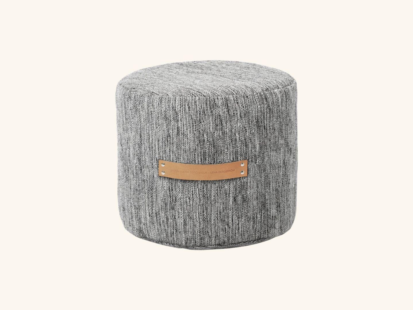 Björk stool low Light grey