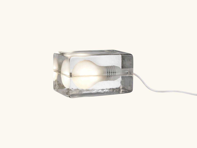 Block lamp White cord