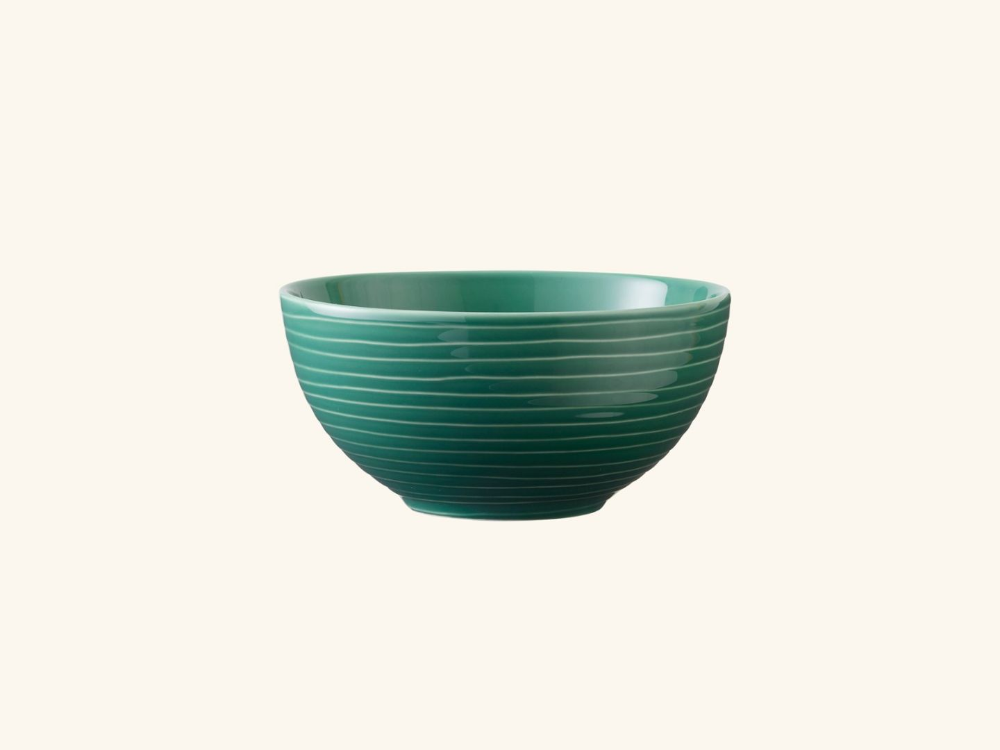 Blond soup bowl Green stripe