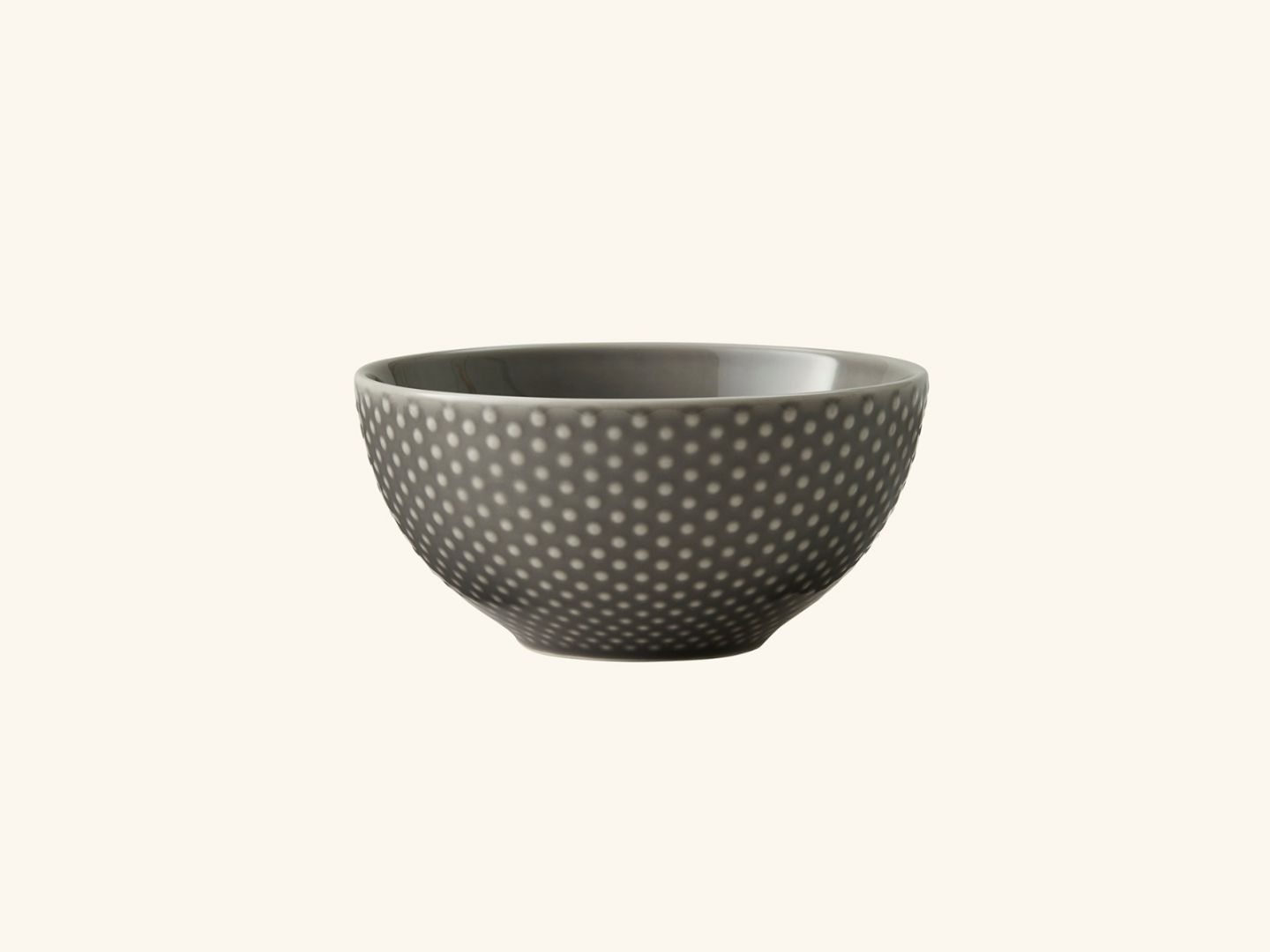 Blond soup bowl Grey dot