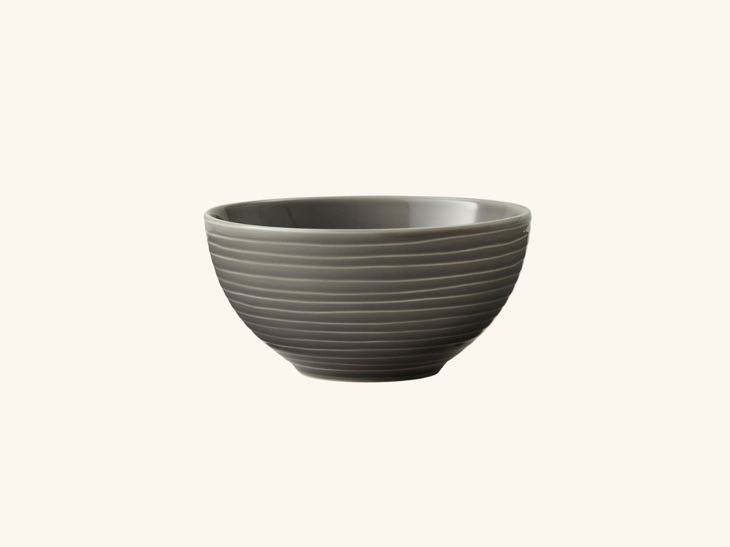 Blond soup bowl Grey stripe