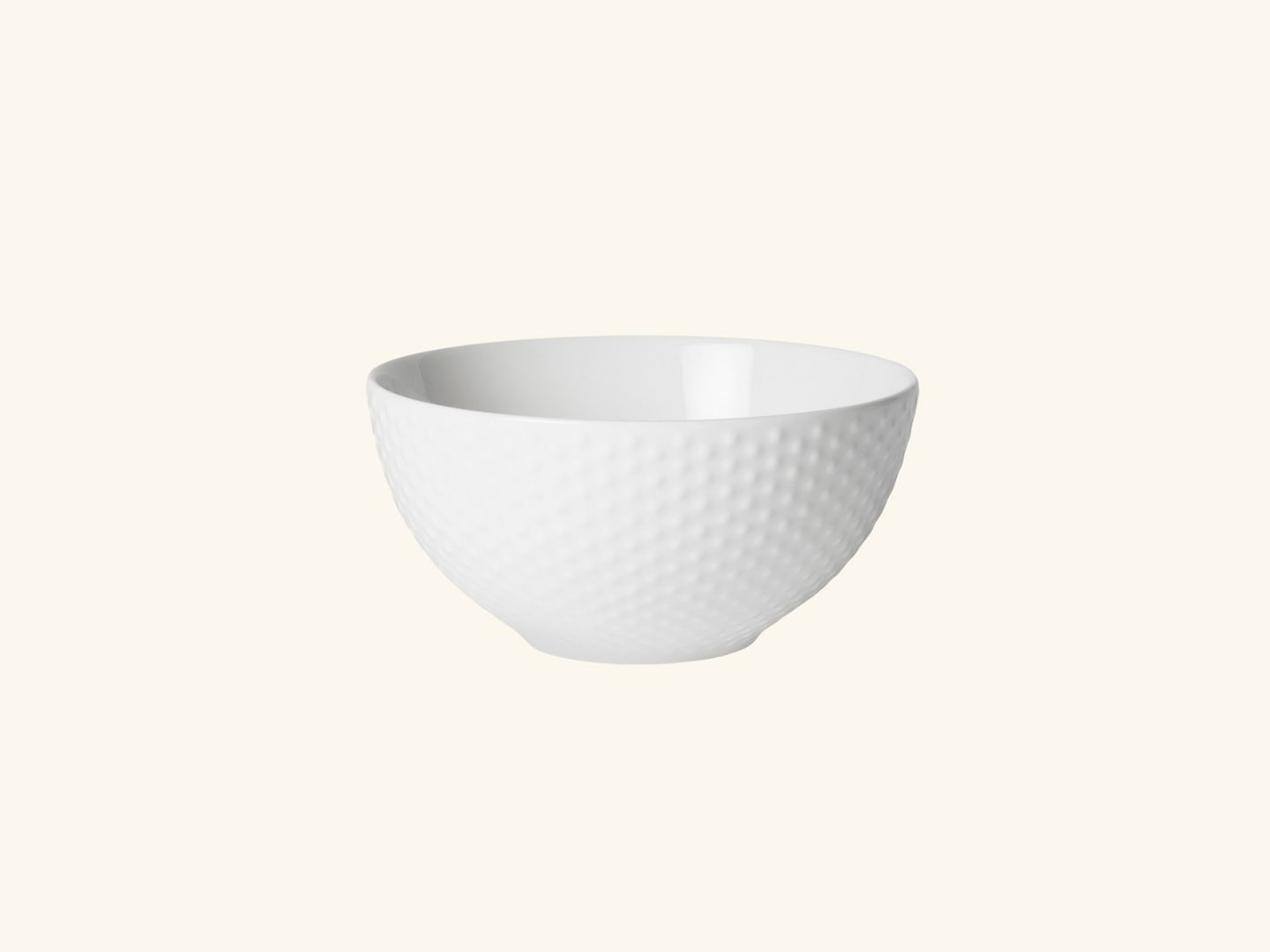 Blond soup bowl White dot
