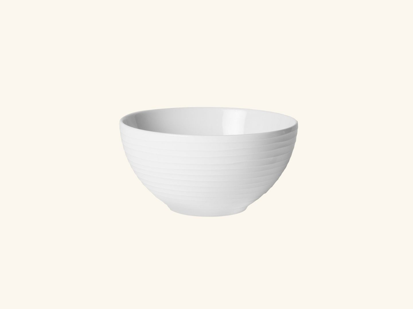 Blond soup bowl White stripe