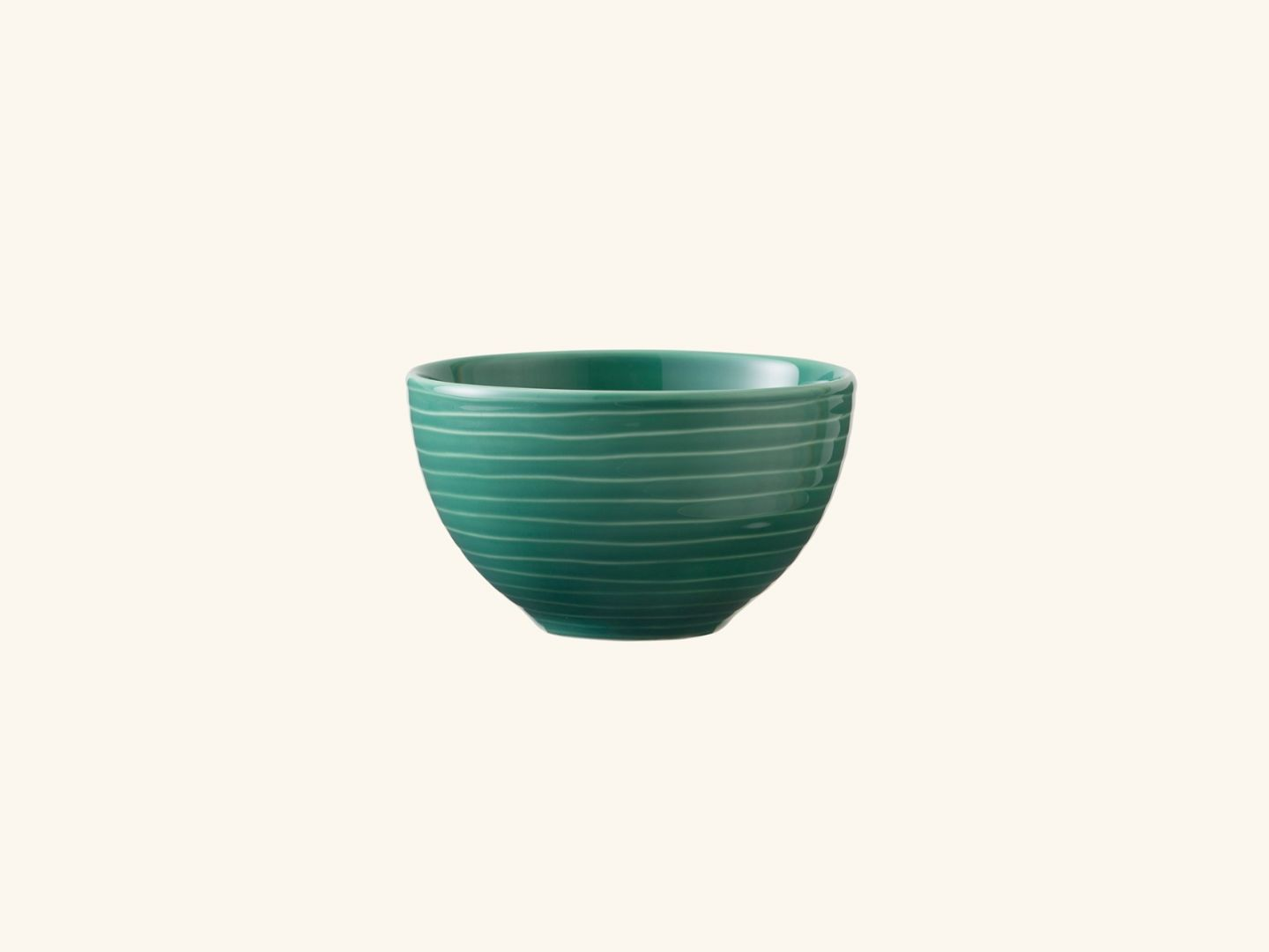 Blond small bowl Green stripe