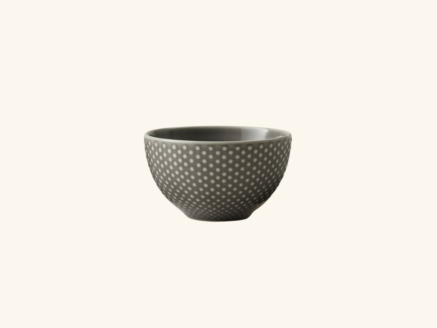 Blond small bowl Grey dot