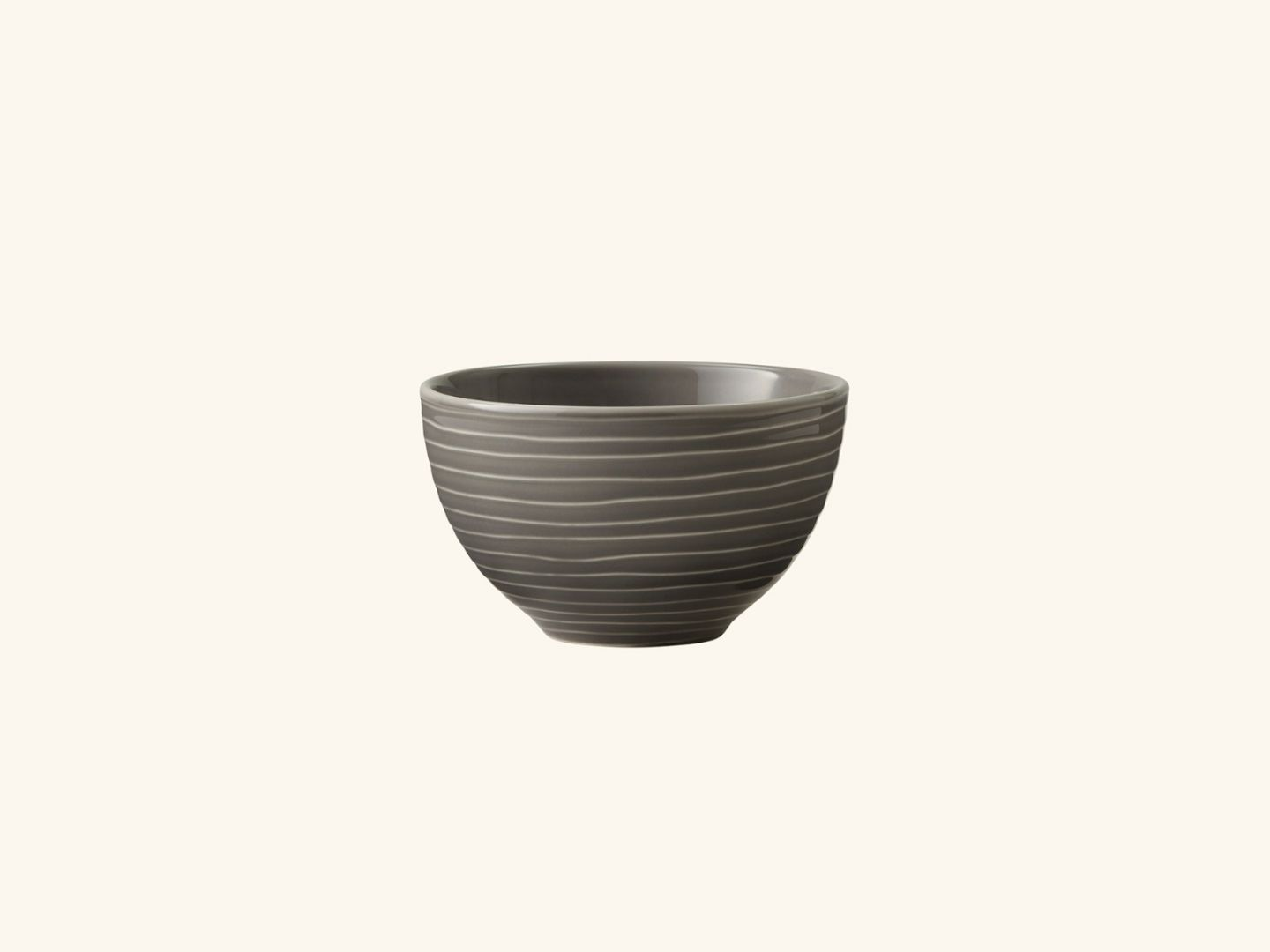Blond small bowl Grey stripe