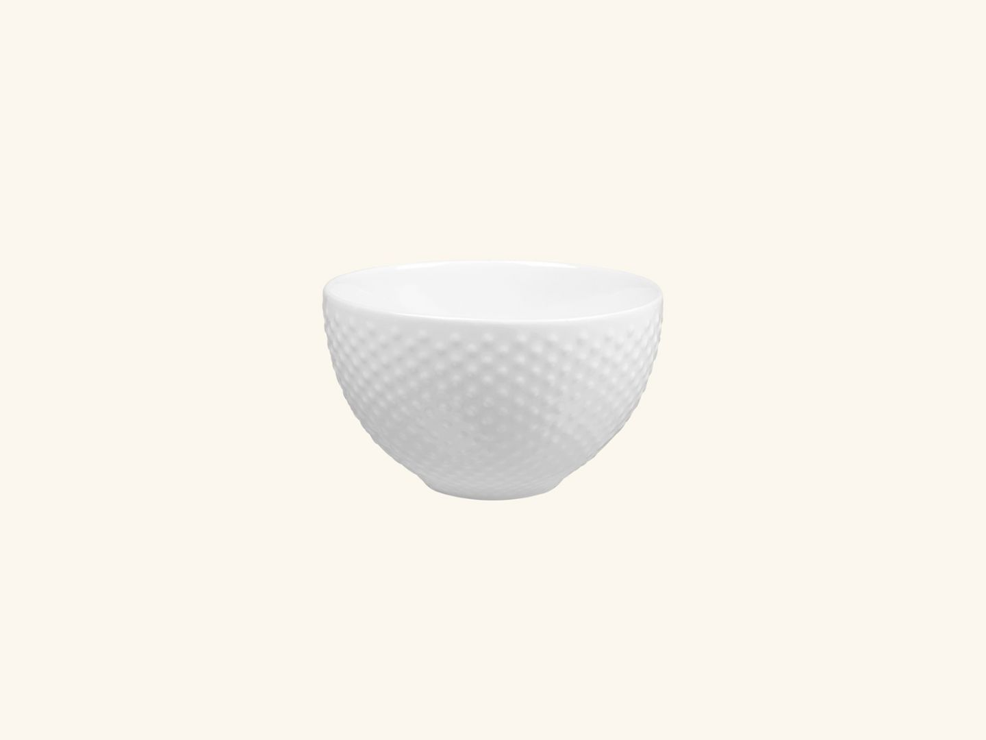 Blond small bowl White dot