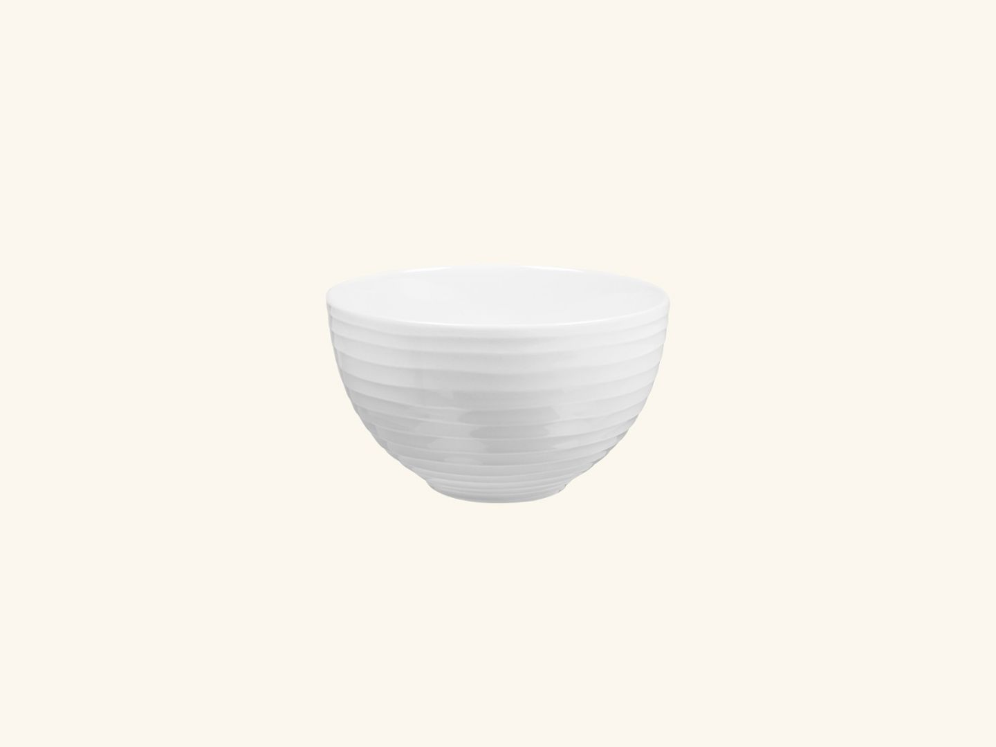 Blond small bowl White stripe