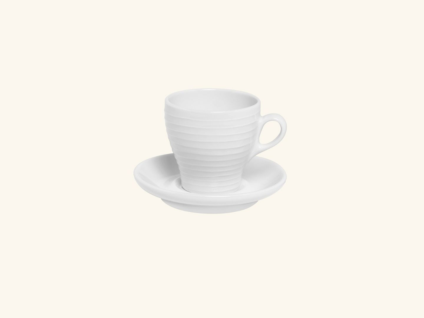 Blond cappuccino Mug White stripe