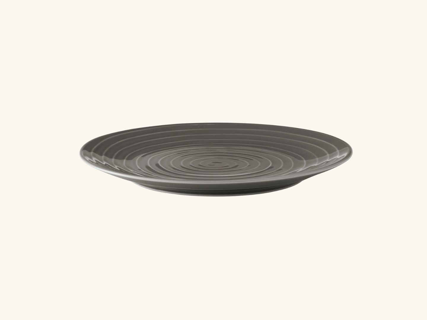 Blond dinner plate Grey stripe