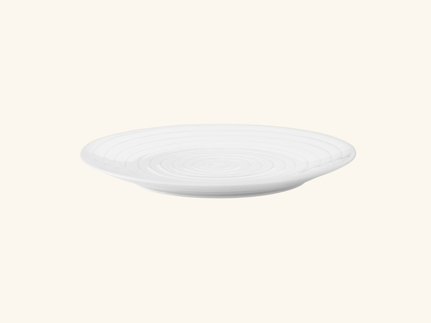 Blond dinner plate White stripe