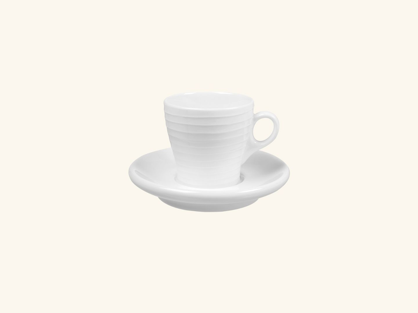 Blond Espresso Mug White stripe