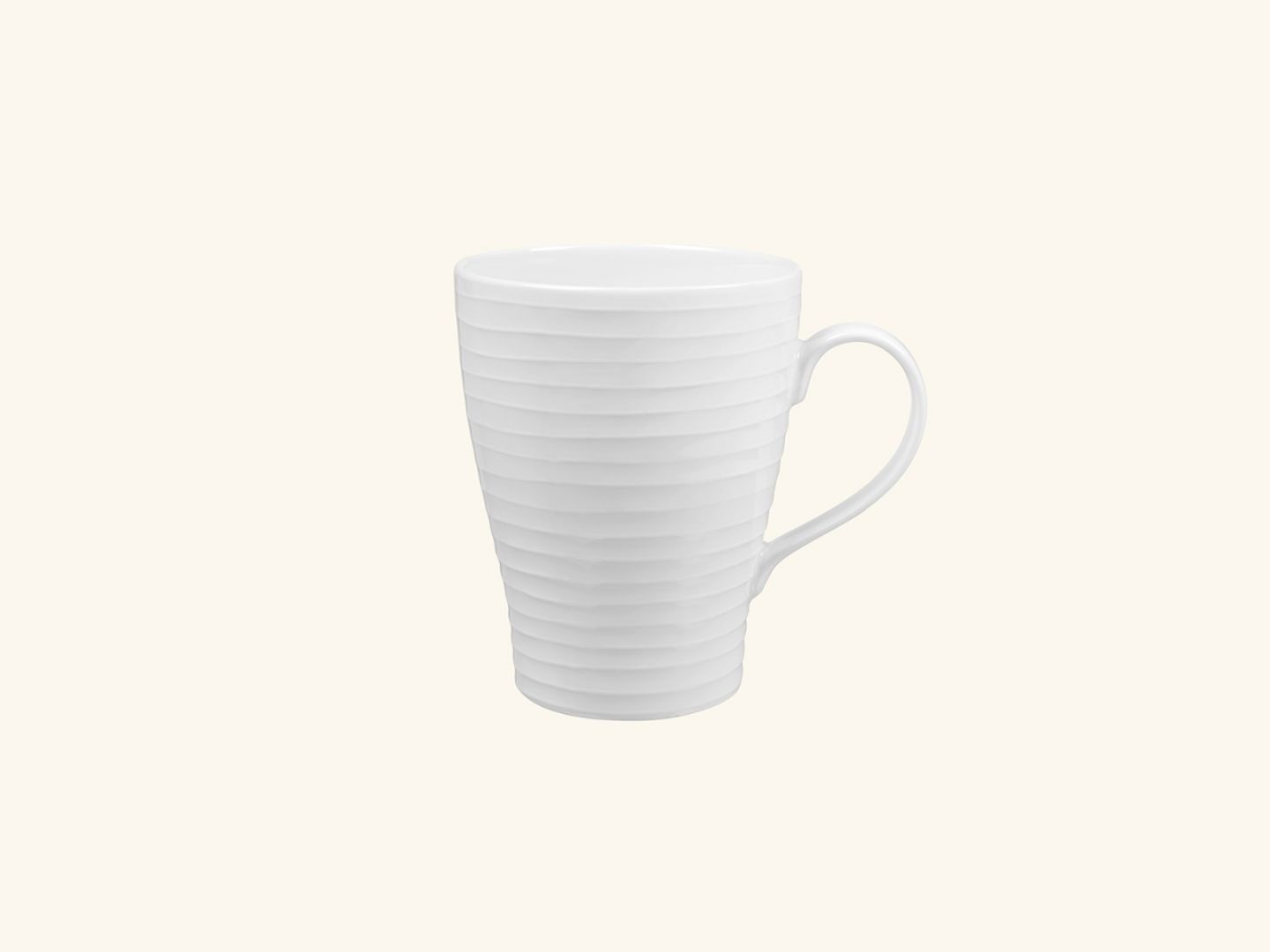 Blond Mug White stripe