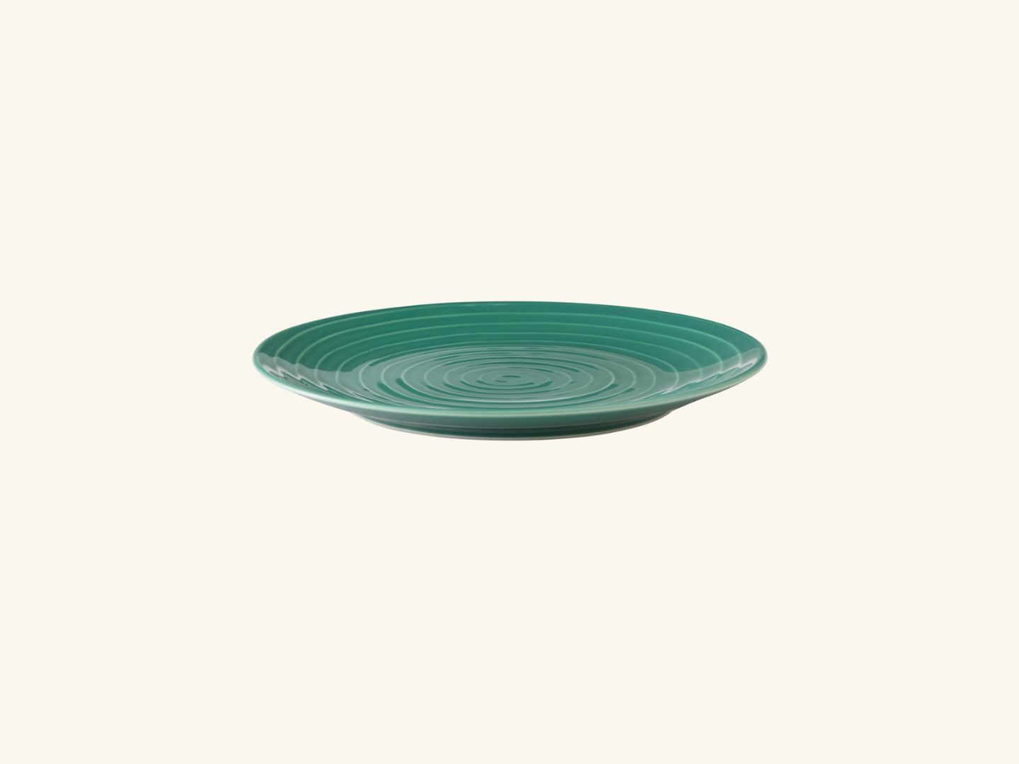 Blond salad plate Green stripe