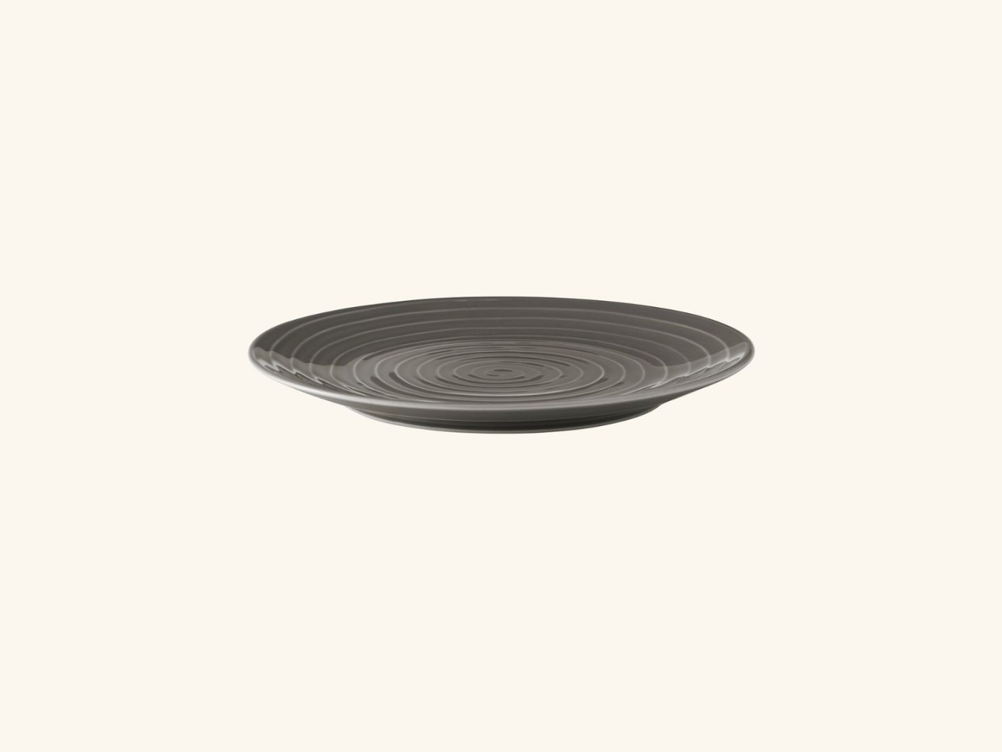 Blond salad plate Grey stripe