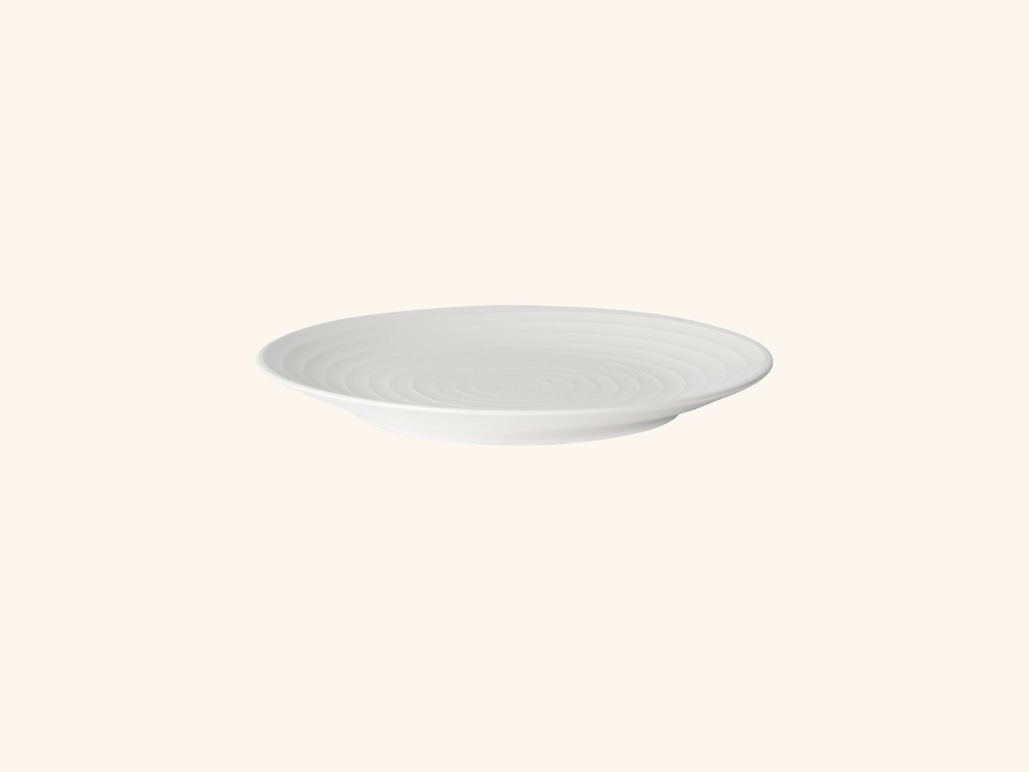 Blond salad plate White stripe