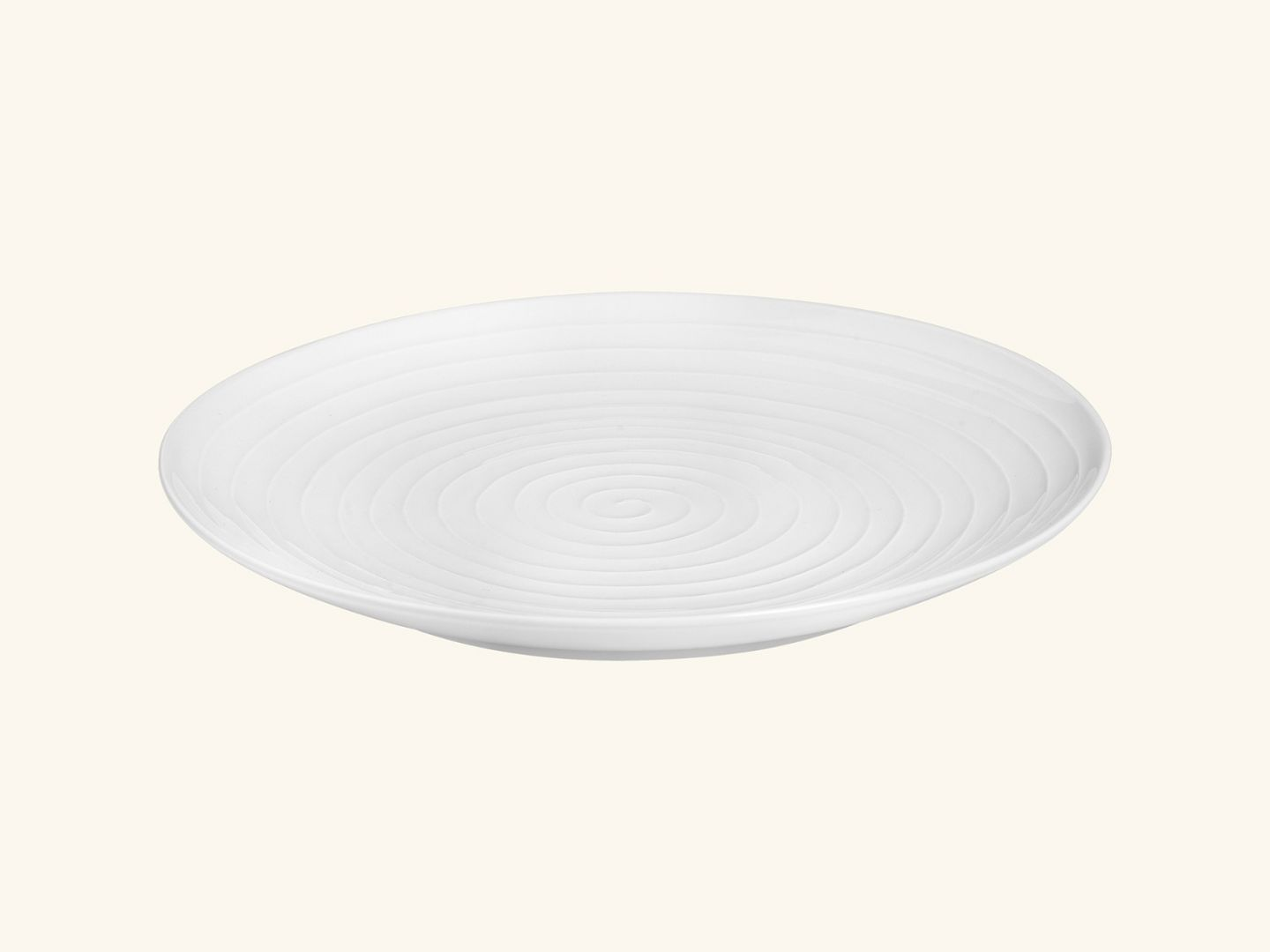 Blond serving plate White stripe