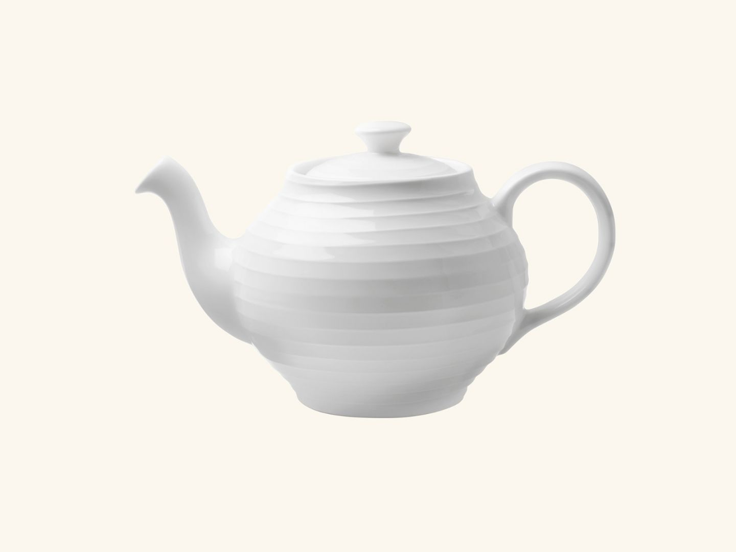 Blond teapot White stripe