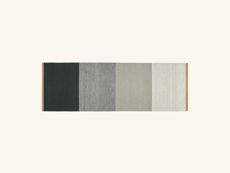 Fields rug Green/grey 80x250