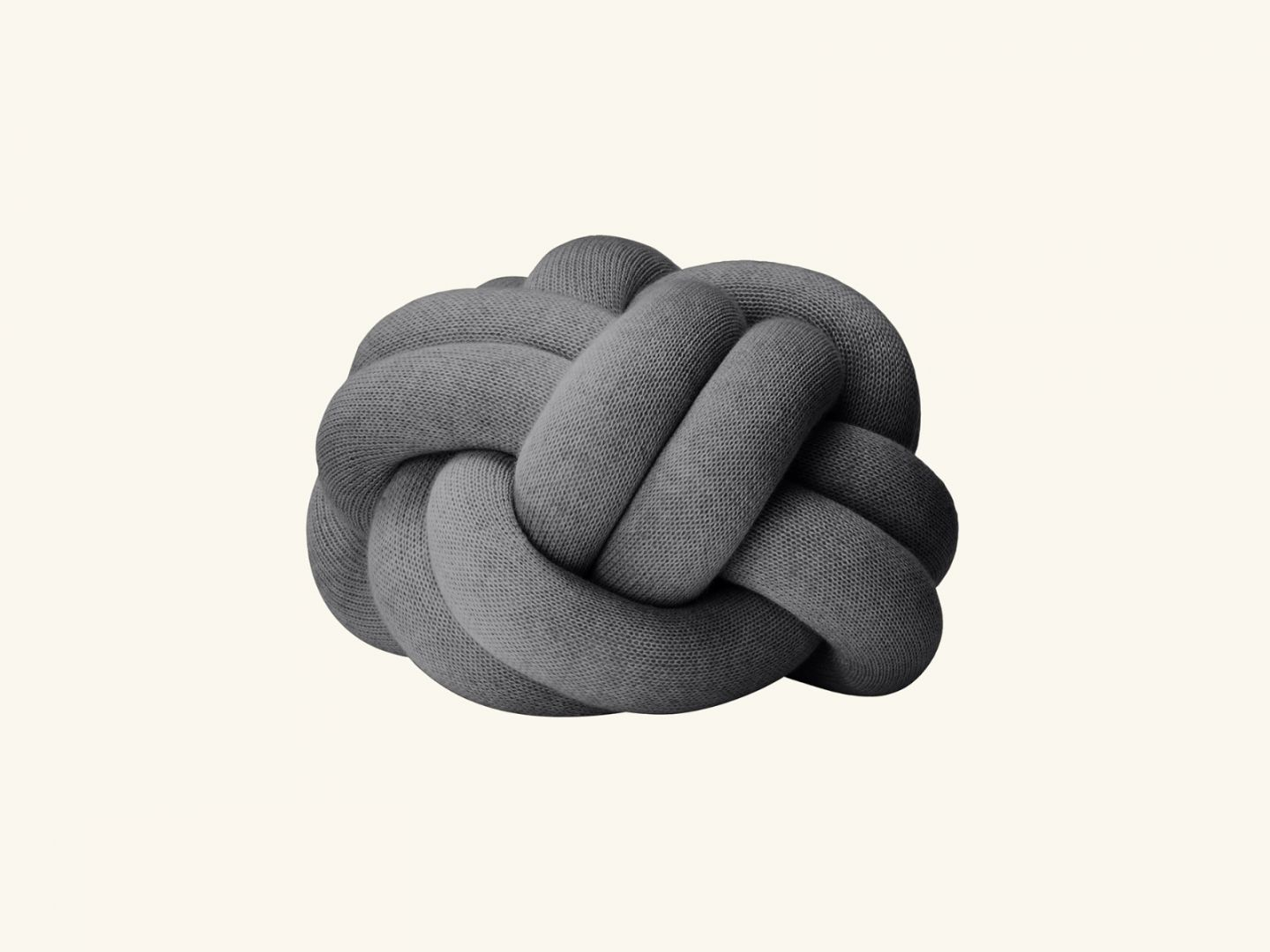 Knot cushion Grey