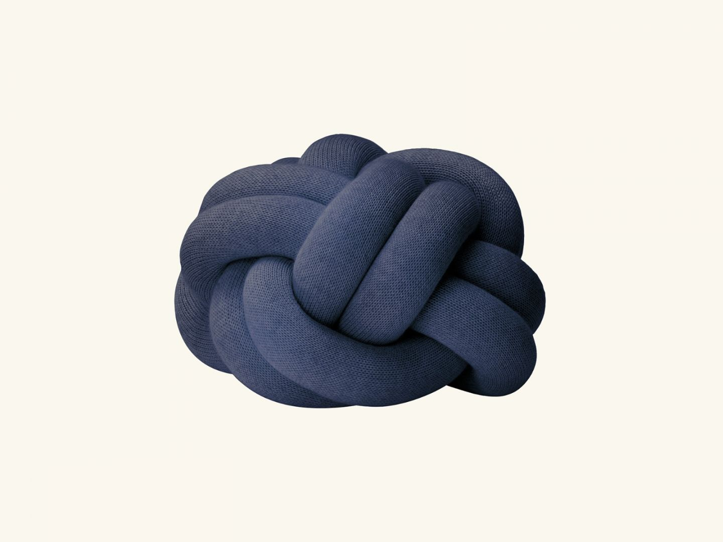 Knot cushion Navy