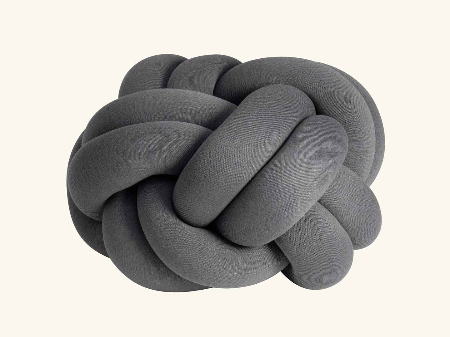 Knot cushion XL, Grey