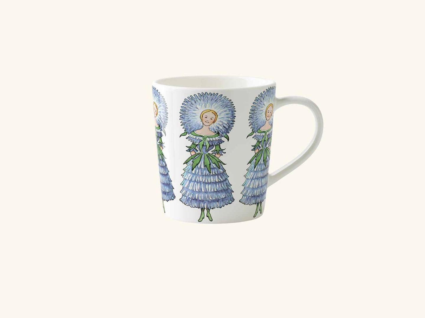 Mug w handle, Mrs Aster