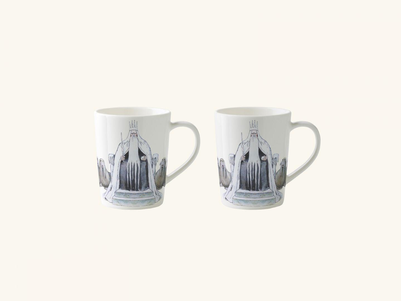 Mulled wine mugs, King Winter