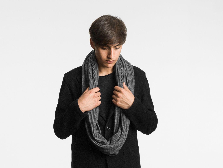 Pleece snood scarf Dark grey