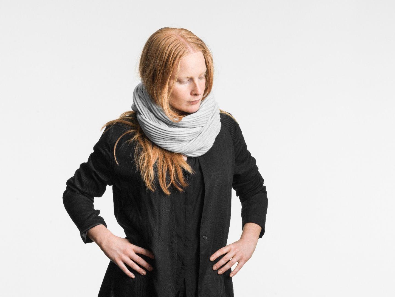 Pleece snood scarf Light grey
