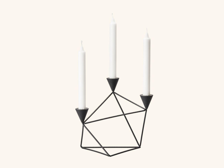 Pythagoras candleholder Black