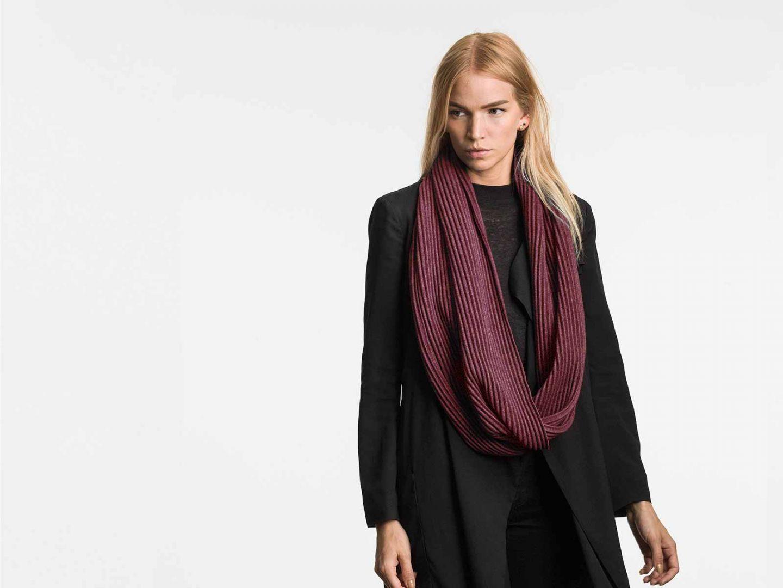 Pleece snood scarf Bordeaux
